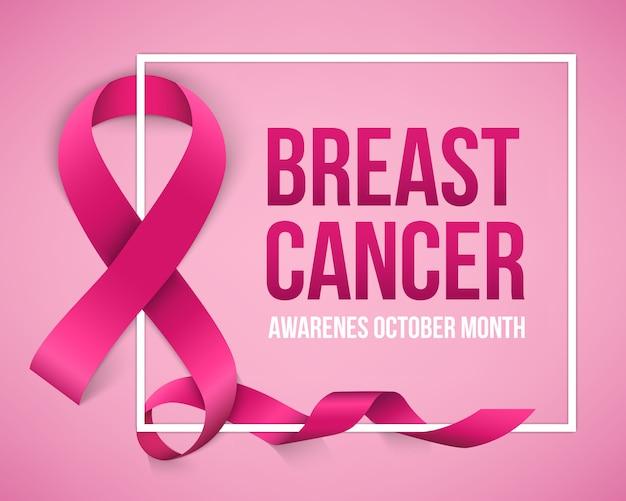 Fundo de campanha de conscientização de câncer de mama.