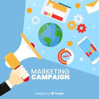 Fundo de campanha de marketing de megafone
