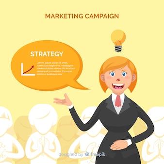 Fundo de campanha de marketing de mulher