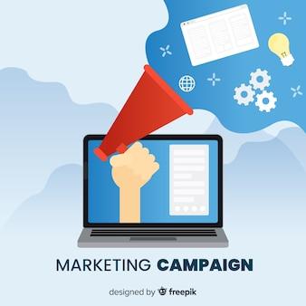 Fundo de campanha de marketing