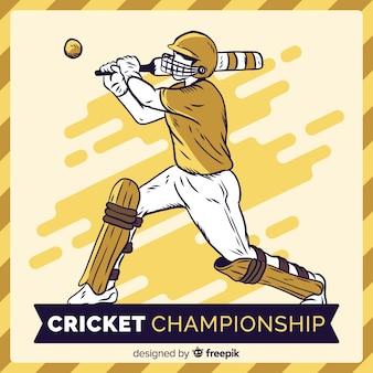 Fundo de campeonato de críquete criativo