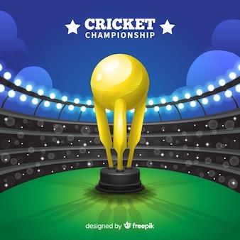 Fundo de campeonato de críquete