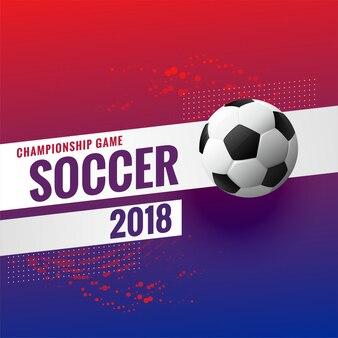 Fundo de campeonato de torneio de futebol de 2018