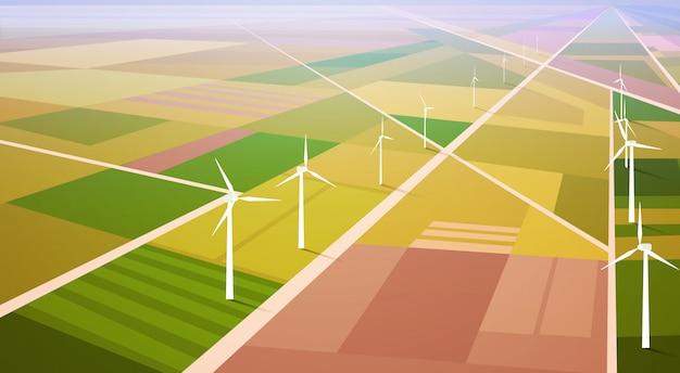 Fundo de campo de estação renovável de energia de turbina de vento