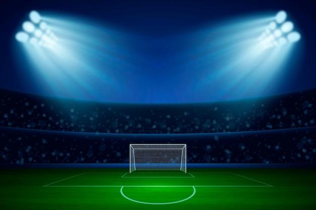 Fundo de campo de futebol realista