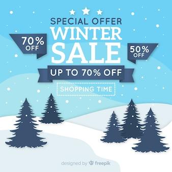 Fundo de campo de venda de inverno