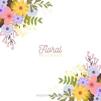 Fundo de canto floral primavera
