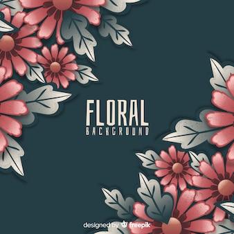 Fundo de canto floral