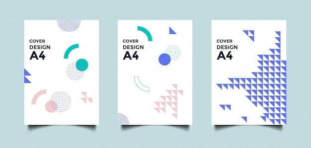 Fundo de capa a4 abstrata com formas geométricas