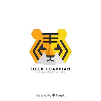 Fundo de cara de tigre