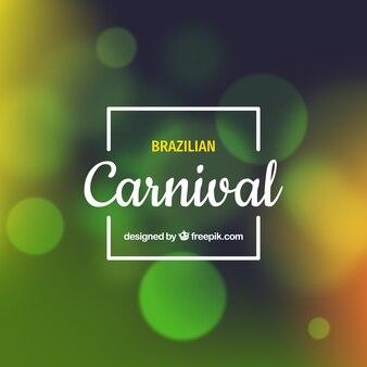 Fundo de carnaval brasileiro borrado