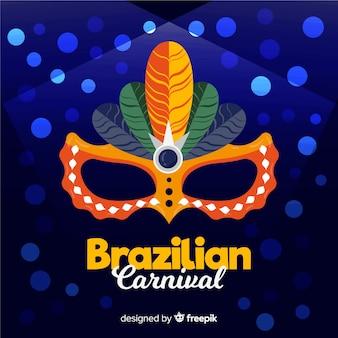 Fundo de carnaval brasileiro de círculos brilhantes