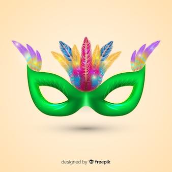 Fundo de carnaval brasileiro de máscara realista