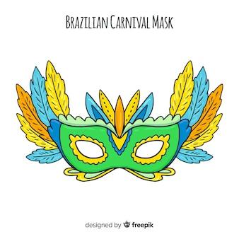 Fundo de carnaval brasileiro de máscara