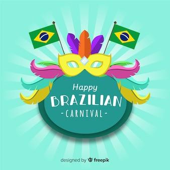 Fundo de carnaval brasileiro de sunburst