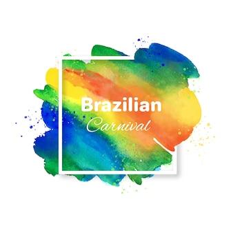 Fundo de carnaval brasileiro e mancha colorida
