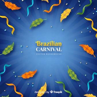 Fundo de carnaval brasileiro penas realistas