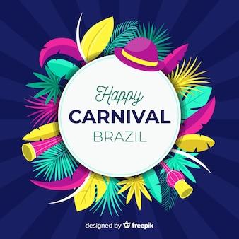 Fundo de carnaval brasileiro
