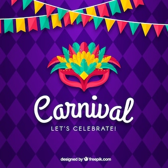 Fundo de carnaval criativo