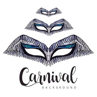 Fundo de carnaval de aguarela desenho de mão