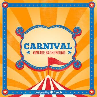Fundo de carnaval de circo vintage