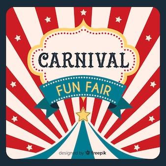 Fundo de carnaval de circo