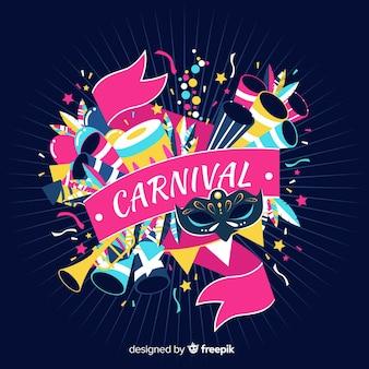 Fundo de carnaval de explosão de elementos