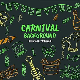 Fundo de carnaval de mão desenhada
