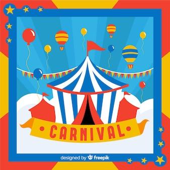 Fundo de carnaval de tenda de circo