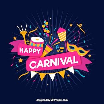 Fundo de carnaval desenhado à mão