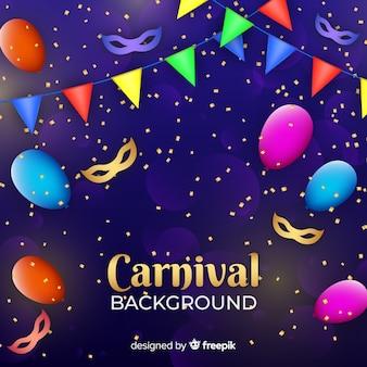 Fundo de carnaval dourado confete