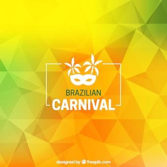 Fundo de carnaval poligonal brasileiro