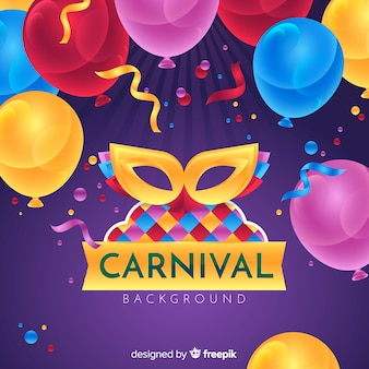 Fundo de carnaval realista