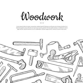Fundo de carpintaria com lugar para texto