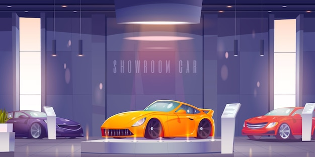Fundo de carro ilustrado criativo