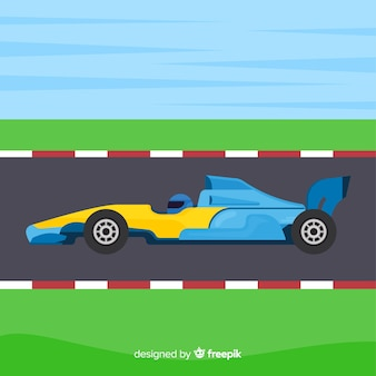 Fundo de carros de corrida de fórmula 1