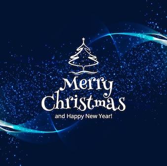 Fundo de cartão colorido lindo feliz Natal celebração