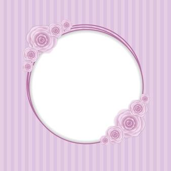 Fundo de cartão de convite vintage flor romântica.