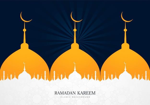 Fundo de cartão de férias ramadan kareem criativo
