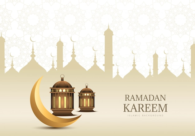Fundo de cartão de ramadã kareem