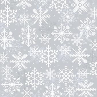 Fundo de cartão de textura de ilustração de floco de neve de neve de inverno