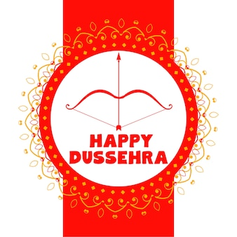 Fundo de cartão decorativo feliz festival dussehra