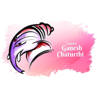 Fundo de cartão do festival feliz ganesh chaturthi artístico moderno