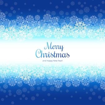 Fundo de cartão feliz Natal floco de neve