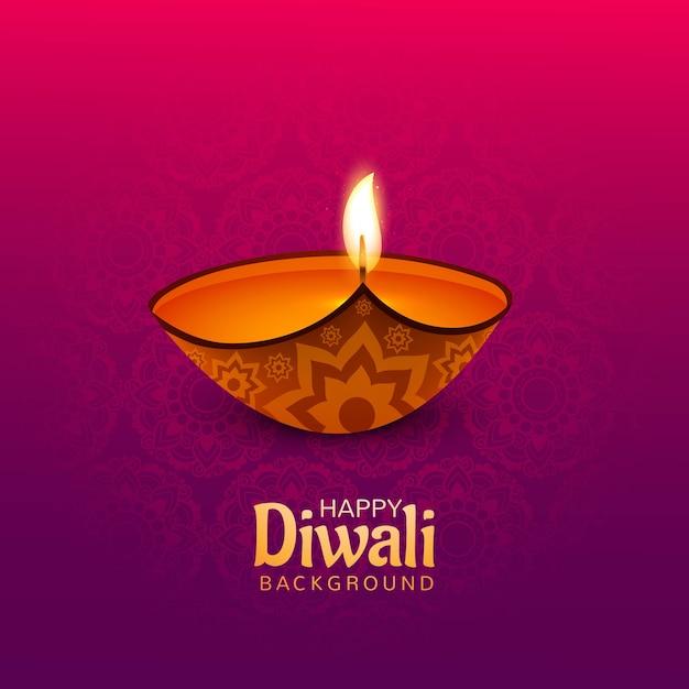 Fundo de cartão lindo feliz diwali
