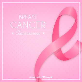 Fundo de cartaz do mês de conscientização de câncer de mama