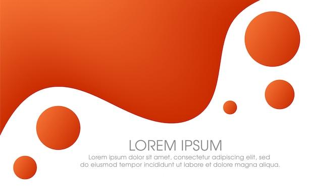 Fundo de cartaz fluido laranja abstrata