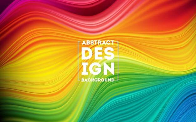 Fundo de cartaz moderno fluxo colorido