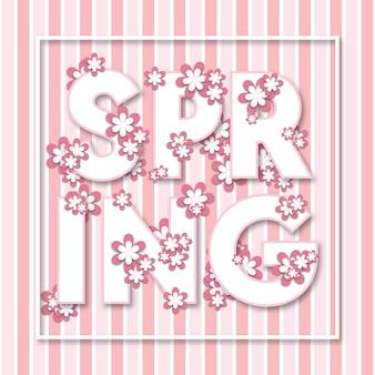 Fundo de cartaz moderno multiuso primavera floral