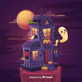 Fundo de casa assombrada aterrorizante